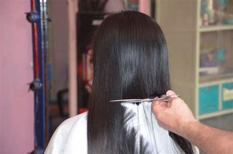 girl long hair cut  youtube