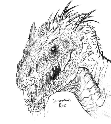 Kleurplaat Indominus Rex by Jurassic World Indominus Rex Vst Rex Coloring Coloring Pages