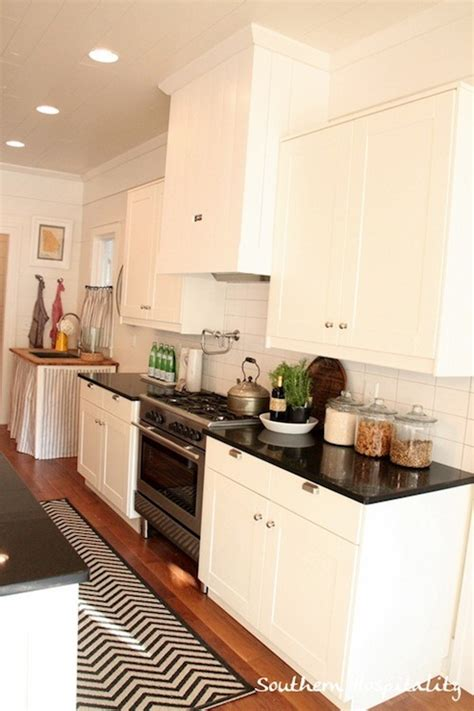 absolute black granite transitional kitchen and
