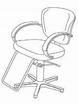 Barber Coloring Getdrawings Getcolorings Printable Chair Drawing sketch template