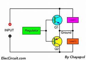 Power Supply Splitter Circuit Using Op