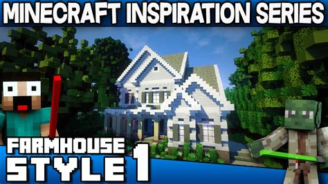 minecraft farmhouse style house keralis inspiration series youtube