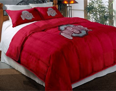 31970 ohio state bed set ohio state buckeyes college chenille embroidered
