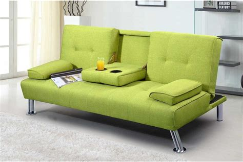 Cheap Bed Settee by New York Lime Green Fabric Modern 3 Seater Sofa Bed Sofa