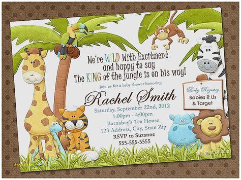 Baby Shower Invitation Luxury Baby Shower Invitations Zoo