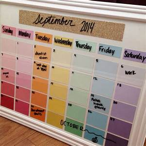 Diy Deko Jugendzimmer : diy calendar with paint chips organization ~ Watch28wear.com Haus und Dekorationen