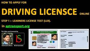 Driving license how to apply for driving license in for How to apply for driving license youtube