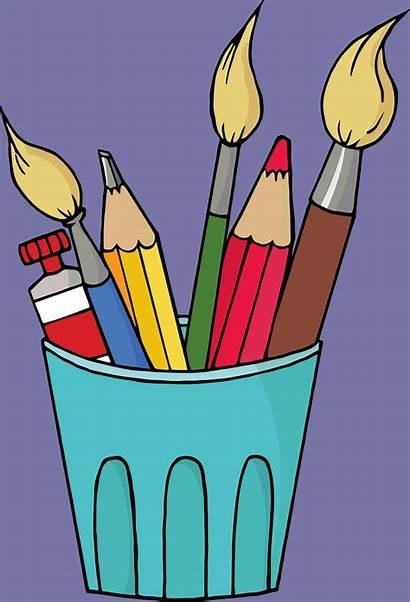 Supplies Clipart Craft Clip Materials Arts Artist