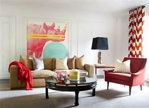 Vorhänge Rot Weiß : wohnzimmer gardinen und vorh nge 26 ausgefallene ideen ~ Orissabook.com Haus und Dekorationen