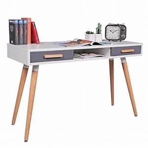 Design Sekretär Modern : wohnling schreibtisch mdf retro holztisch 120cm breit ~ Sanjose-hotels-ca.com Haus und Dekorationen