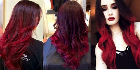 ombre hairstyles  red  haircut web