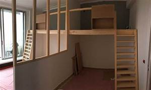 Verrière En Bois : amenager chambre enfant mezzanine verriere baty 39 r le bois dans les veines ~ Melissatoandfro.com Idées de Décoration