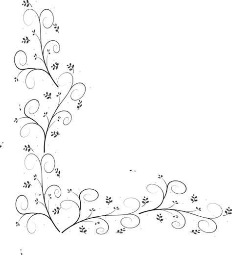 swirly leaf border clip art  clkercom vector clip art