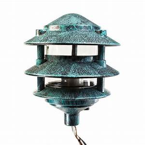 pagoda pathway light verde finish 120v plt pgl6bvrd With outdoor pathway lighting 120 volts