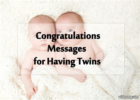 twin baby congratulation messages wishes  twins wishesmsg