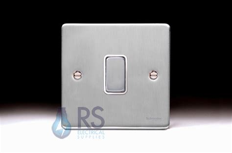 low profile light switch schneider low profile light switch brushed chrome