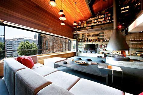 contemporary rustic karakoy loft overlooks modern istanbul