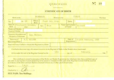 Birth Certificate Template 10 Best Images Of Realistic Birth Certificate Template