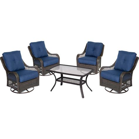 hanover orleans 5 wicker patio conversation set with