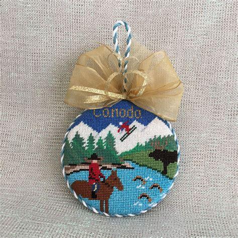 canada ornament needlepoint christmas ornaments