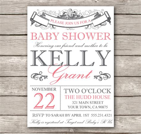 Baby Shower Invitations Maker bridal shower invitation or baby shower invitation by