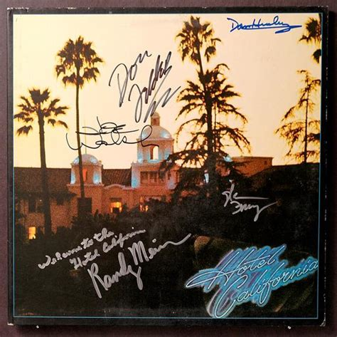 Eagles  Hotel California Album Cover Signed