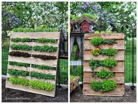 How To Make A Vertical Pallet Garden by S Bird Gardens Diy Vertical Pallet Garden