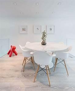 Meubles salle a manger idees en 80 photos exquises for Meuble salle À manger avec chaises blanches pied bois