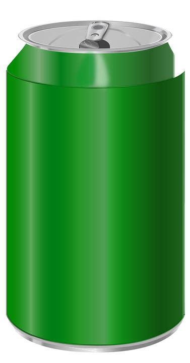 Free vector graphic: Can, Soda, Open, Green, Blank - Free ...
