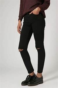 PETITE MOTO Black Ripped Jamie Jeans - Jeans - Clothing - Topshop USA