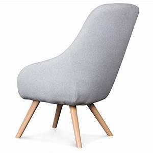 Fauteuil Scandinave Tissu : fauteuil design scandinave tissu gris flanelle egg demeure et jardin ~ Teatrodelosmanantiales.com Idées de Décoration