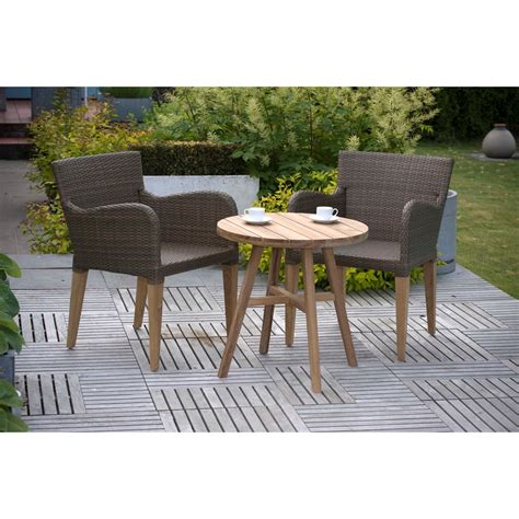 luxury weave teak garden bistro set garden furniture