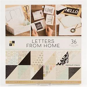 dcwv letters from home premium stack 12quotx12quot 36 sheets With dcwv letters