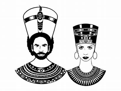 Queen King Nubian Couple Afro Womanman