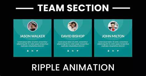 creative box  ripples animation team section design