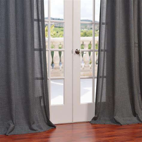 buy phantom grey faux linen grommet semi sheer curtain