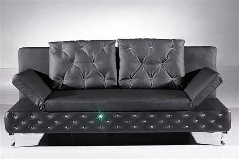 canape convertible chesterfield en simili cuir noir strass lit clic clac ebay