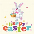 Happy Easter Bunny Dancing Stock Illustration - Download ...