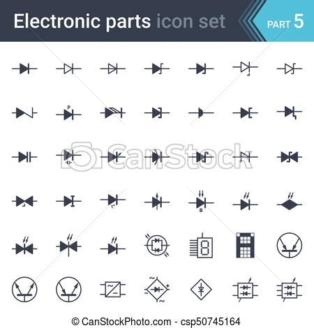 Electric Electronic Circuit Diagram Symbols Set