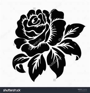 Clipart Black And White Floral Design 5 ~ loversiq