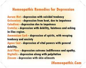 Natural Homeopathic Remedies for Depression - Homeopathic Treatment ...  Depression Herbal Medicine