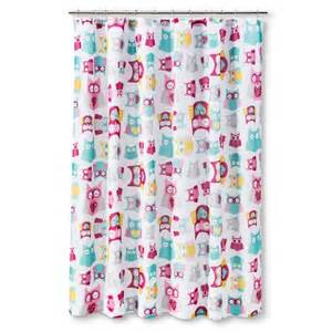circo floral owl shower curtain target