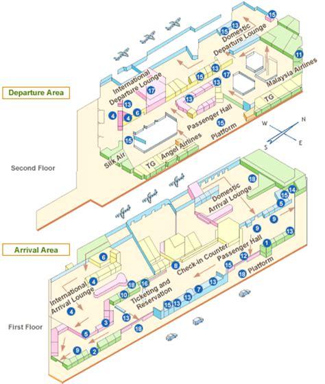 chiang mai airport terminal map chiang mai airport guide