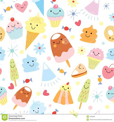 Texture Of Fun Ice Cream And Cake Stock Vector  Illustration Of Design, Decorative 15502805