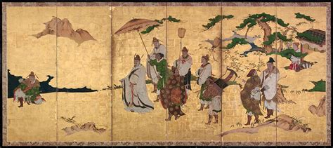 attributed  kano takanobu meeting  emperor wen