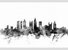 Atlanta Georgia Skyline Digital Art by Michael Tompsett