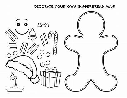 Gingerbread Coloring Own Christmas Pages Decorate Printable