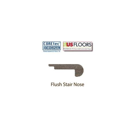 flush stair nose usfloors coretec plus alabaster oak 50lvp706 7 quot planks