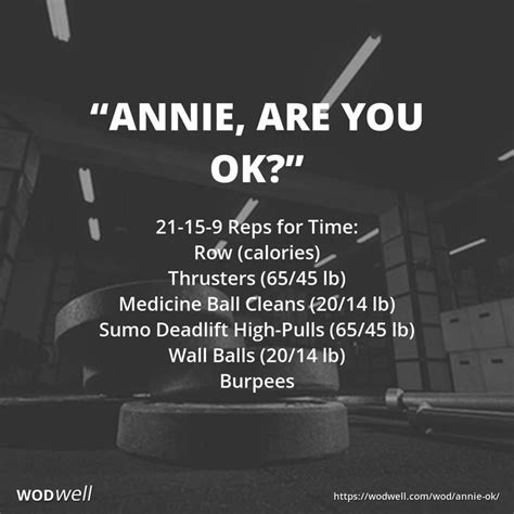 wod annie workout crossfit wods names team wodwell kettlebell row ok