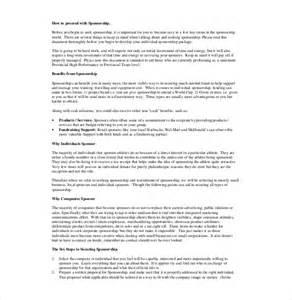 Athlete Sponsorship Resume Template by Sponsorship Letter Templates Free Sle Exle Format